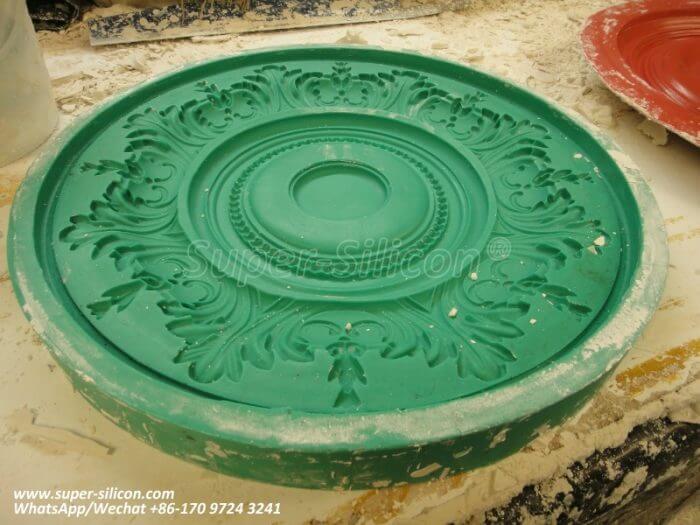 Silicone rubber mold for plaster Ornamentation